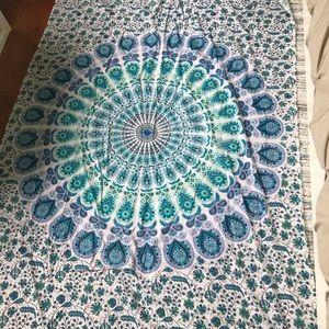 Blue boho tapestry